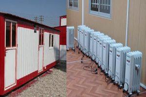 سیستم گرمایشی در کانکس